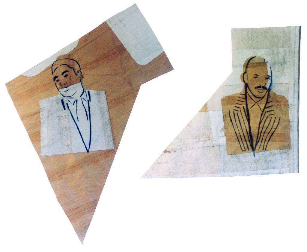 Portraits in limbo (1991) - 300cm x 200cm - Car spray paint on sail cloth