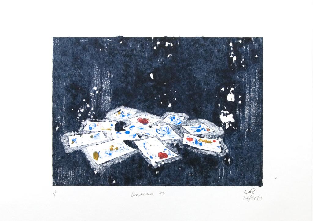 101 - Untitled/8616 (2013) - 44cm x 33cm - monoprint - oil paint on paper