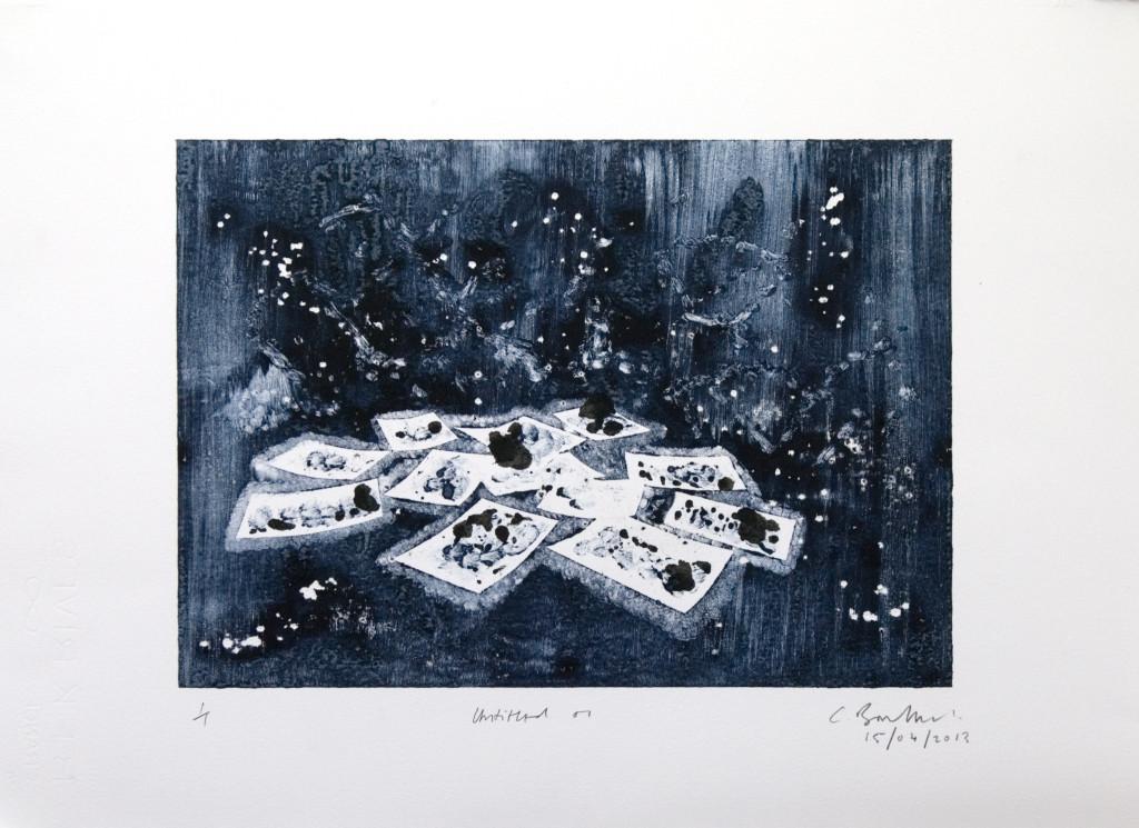 102 - Untitled/8614 (2013) - 44cm x 33cm - monoprint - oil paint on paper