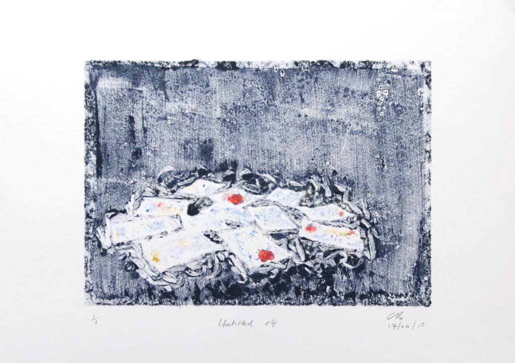 103 - Untitled/8615 (2013) - 44cm x 33cm - monoprint - oil paint on paper