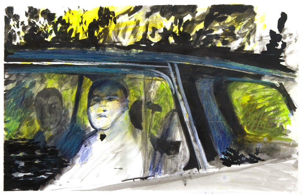 38 - Untitled (2010) - 32.5cm x 50cm - acrylic, charcoal and indian ink on paper