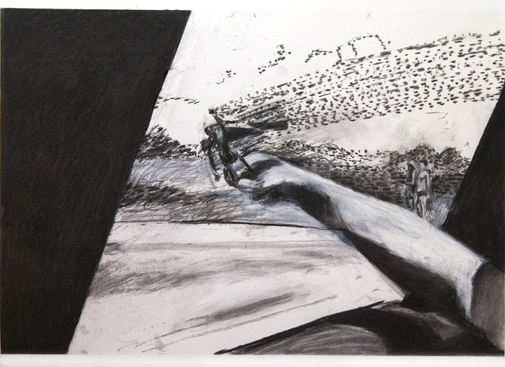 42 - Untitled (2010) - 65cm x 50cm - charcoal on paper