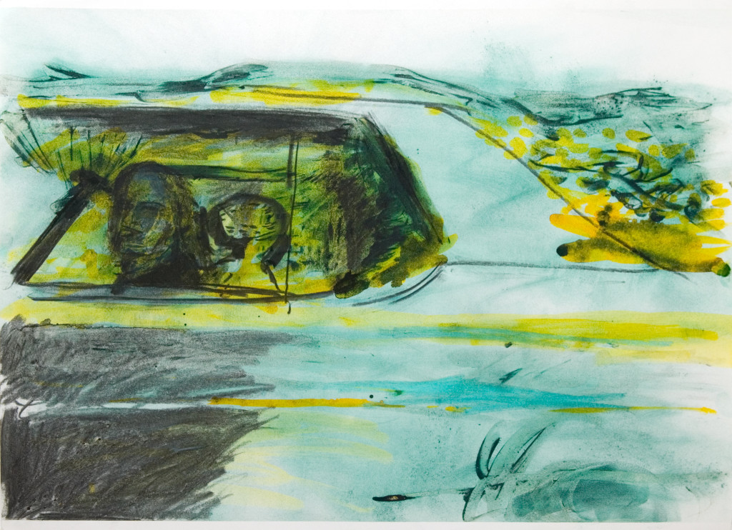 45 - Untitled (2010) - 65cm x 50cm - acrylic, charcoal and indian ink on paper