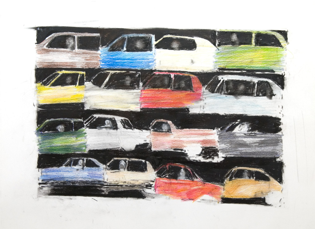 48 - Untitled (2011) - 65cm x 50cm - crayon, charcoal and indian ink on paper