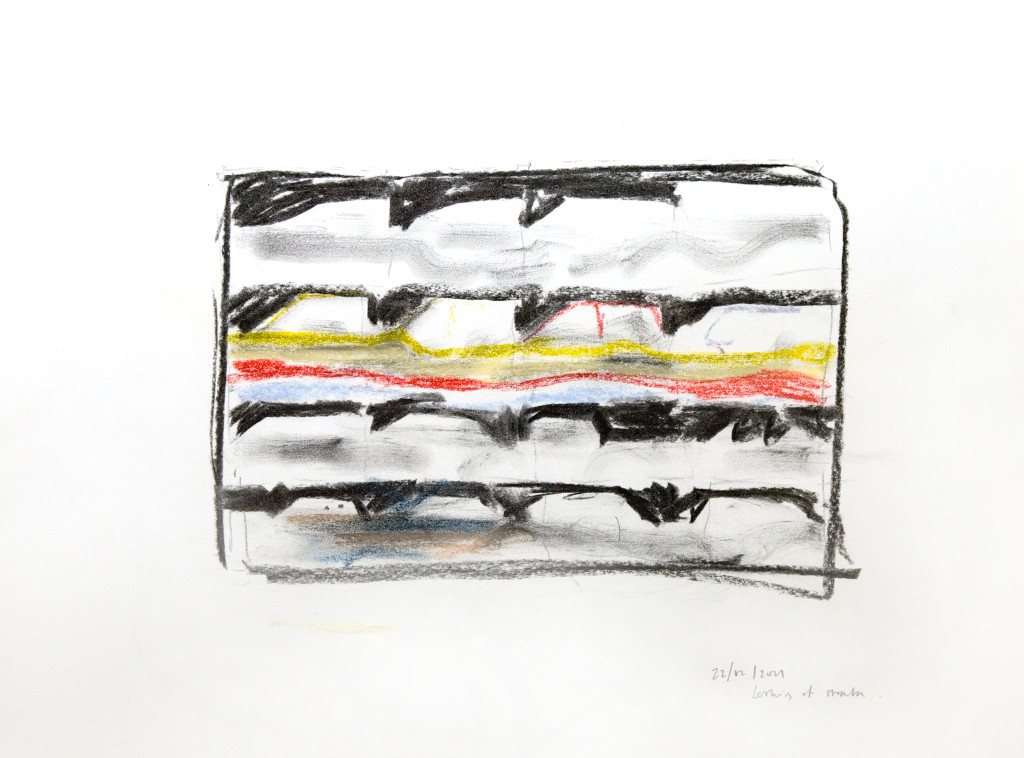 51 - Untitled (2011) - 65cm x 50cm - crayon and charcoal on paper