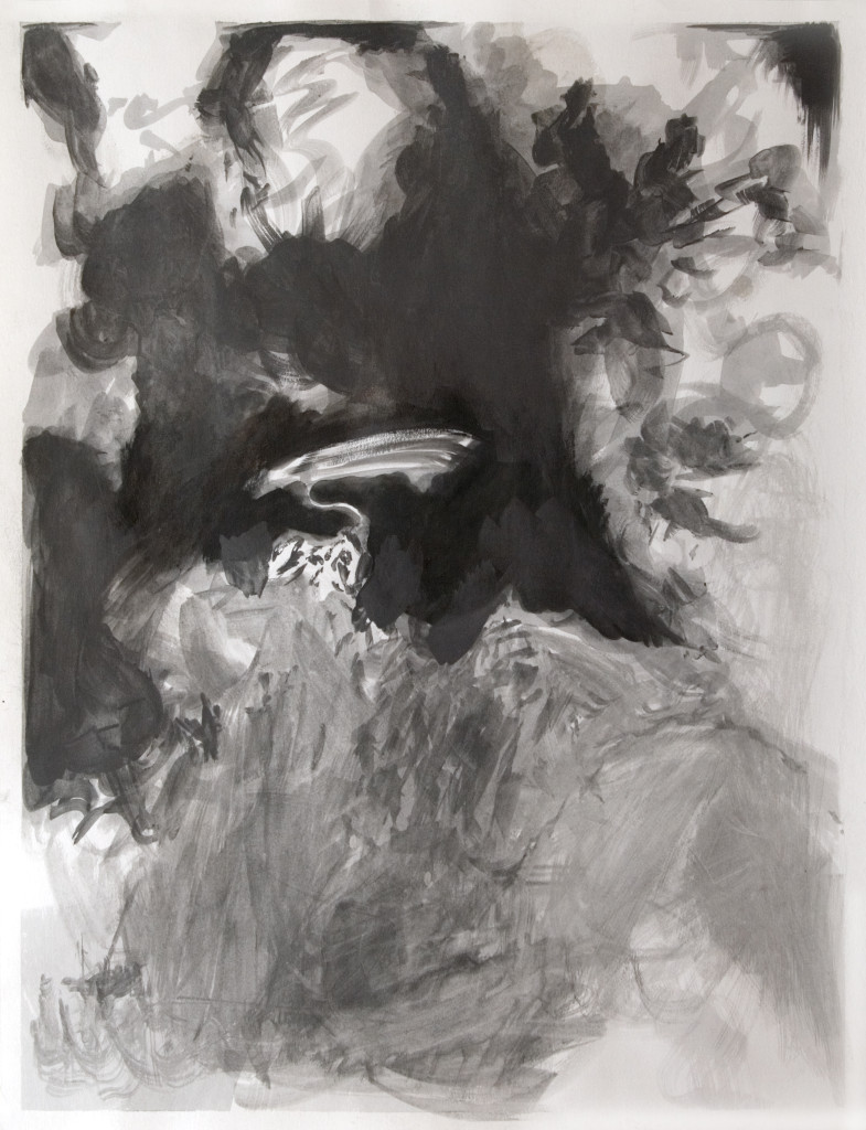 73 - Concordia II (2012) - 50cm x 65cm - charcoal and indian ink on paper