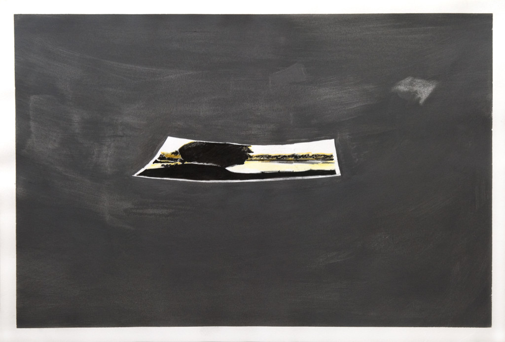 76 - Dad by lake I (2012) - 50cm x 33cm - graphite, acrylic and indian ink on paper
