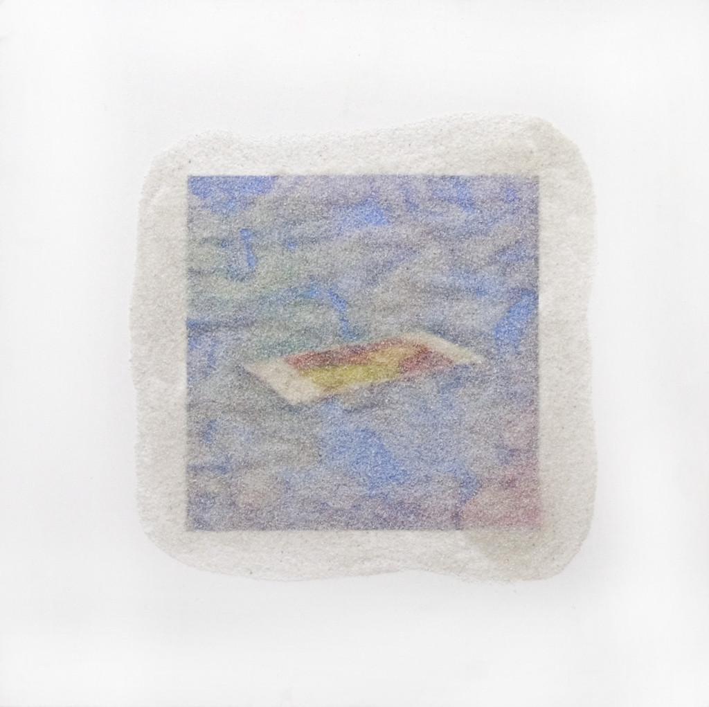 85 - Matt (2013) - 35.5cm x 35.5cm - inkjet print, acrylic and marble sand on wooden panel