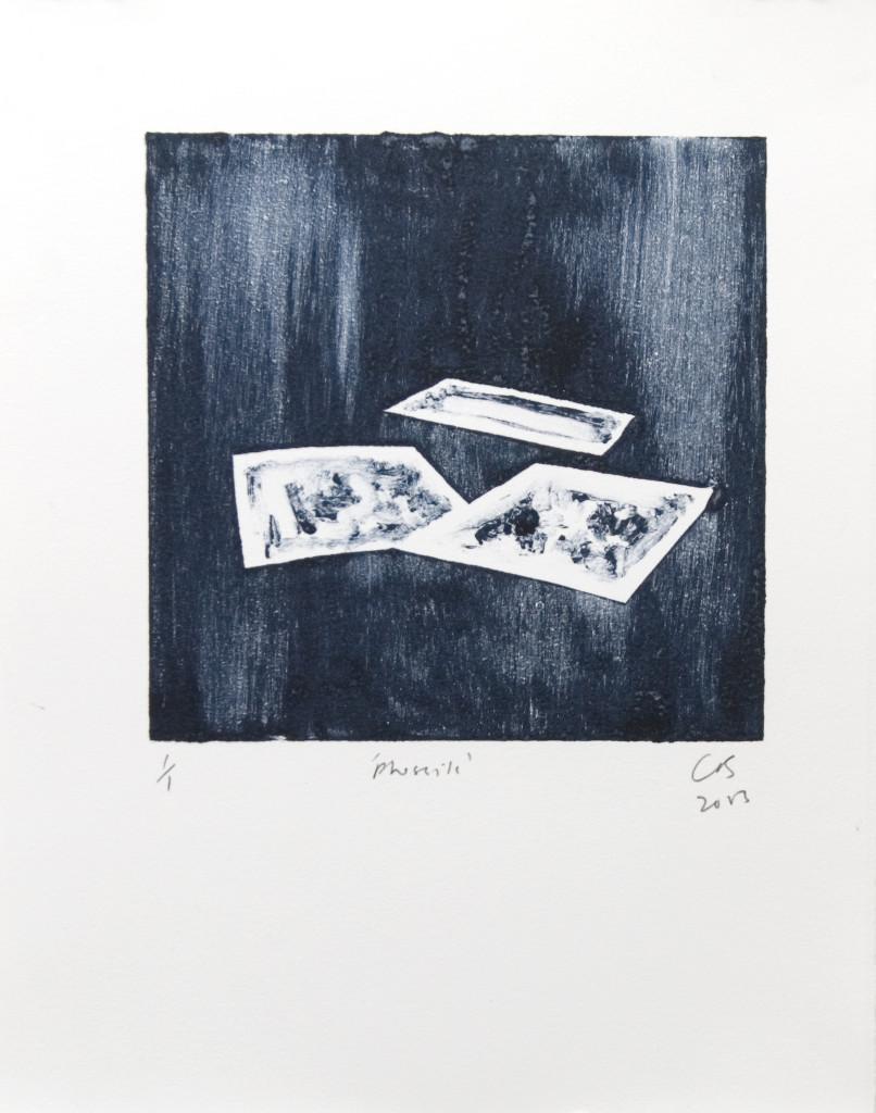 86 - Untitled/8610 (2013) - 25cm x 33cm - monoprint - oil paint on paper