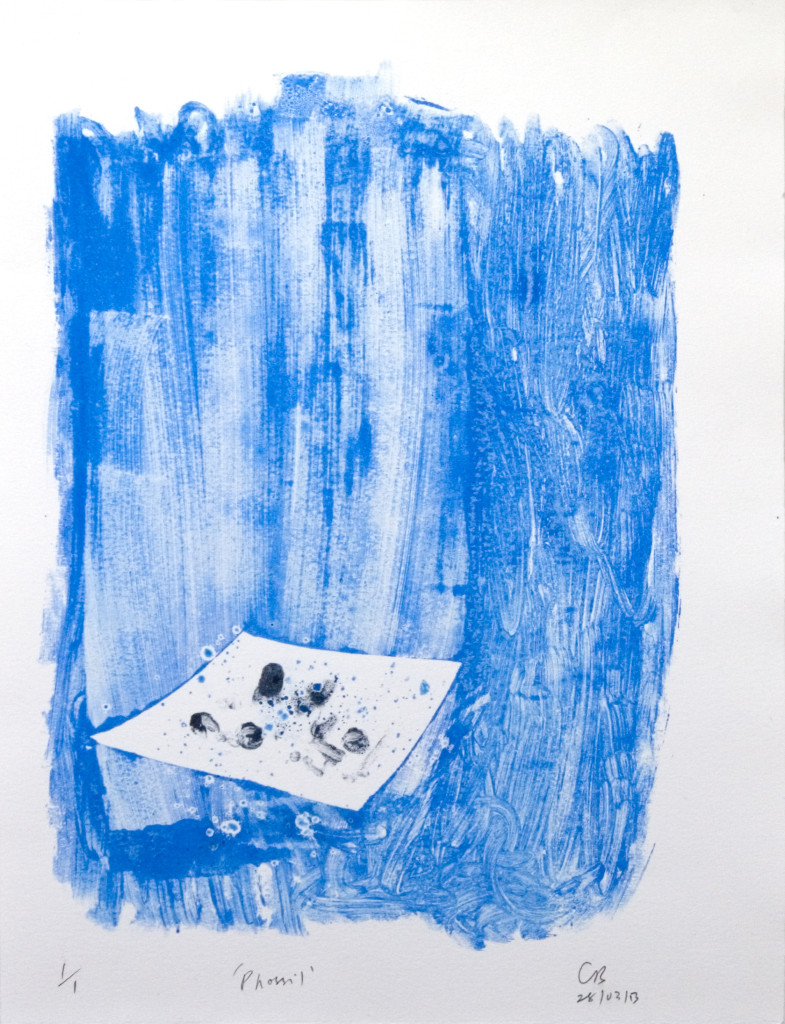 88 - Untitled/8612 (2013) - 25cm x 33cm - monoprint - oil paint on paper