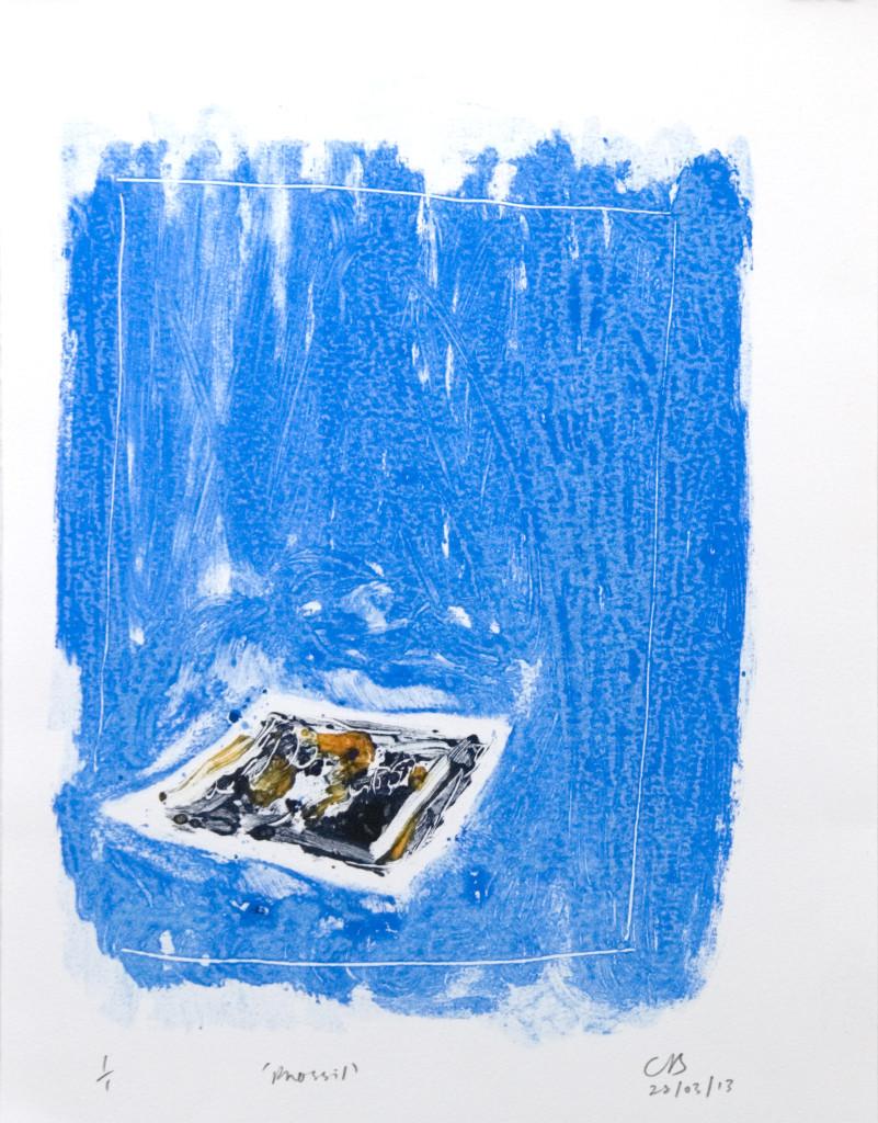 89 - Untitled/8607 (2013) - 25cm x 33cm - monoprint - oil paint on paper