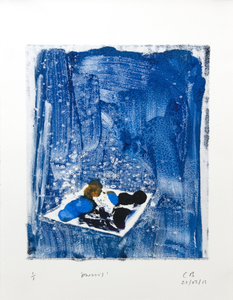 90 - Untitled/8608 (2013) - 25cm x 33cm - monoprint - oil paint on paper