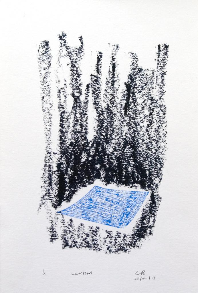 91 - Untitled/8613 (2013) - 26cm x 39cm - monoprint - oil paint on paper