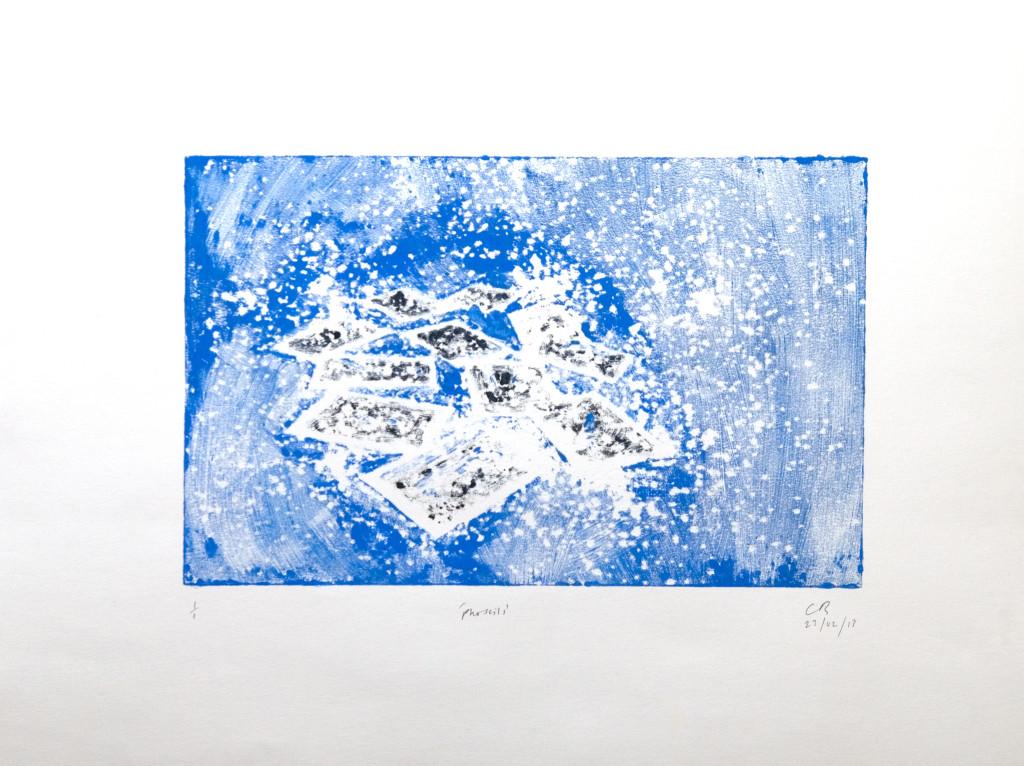 99 - Untitled/8619 (2013) - 65cm x 50cm - monoprint - oil paint on paper