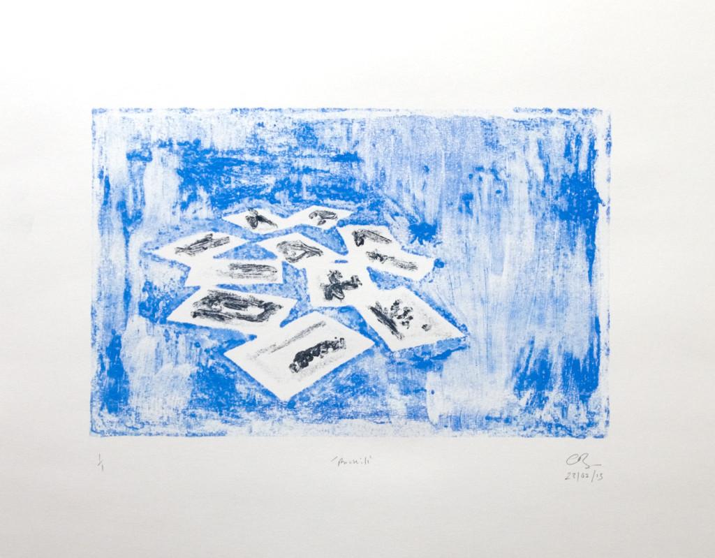 100 - Untitled/8618 (2013) - 65cm x 50cm - monoprint - oil paint on paper