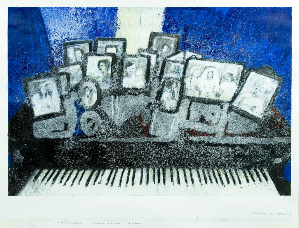 55 - Untitled (2011) - 65cm x 50cm - crayon, charcoal, indian ink and marble sand on paper