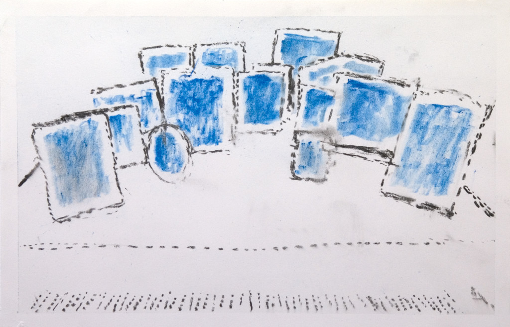 58 - Untitled (2011) - 33cm x 50cm - charcoal and pigment on paper