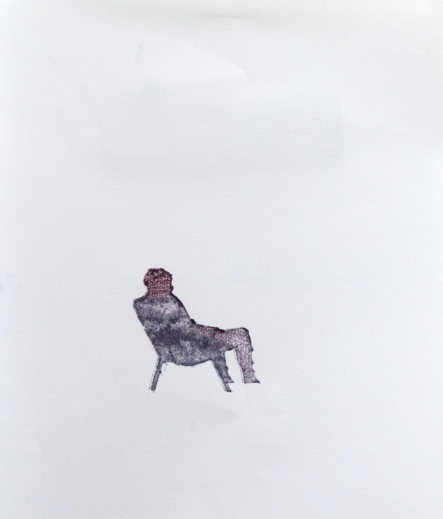 119 - Felixfrompalavas study II 2014) - 23cm x 16.5cm - monoprint with oils on paper