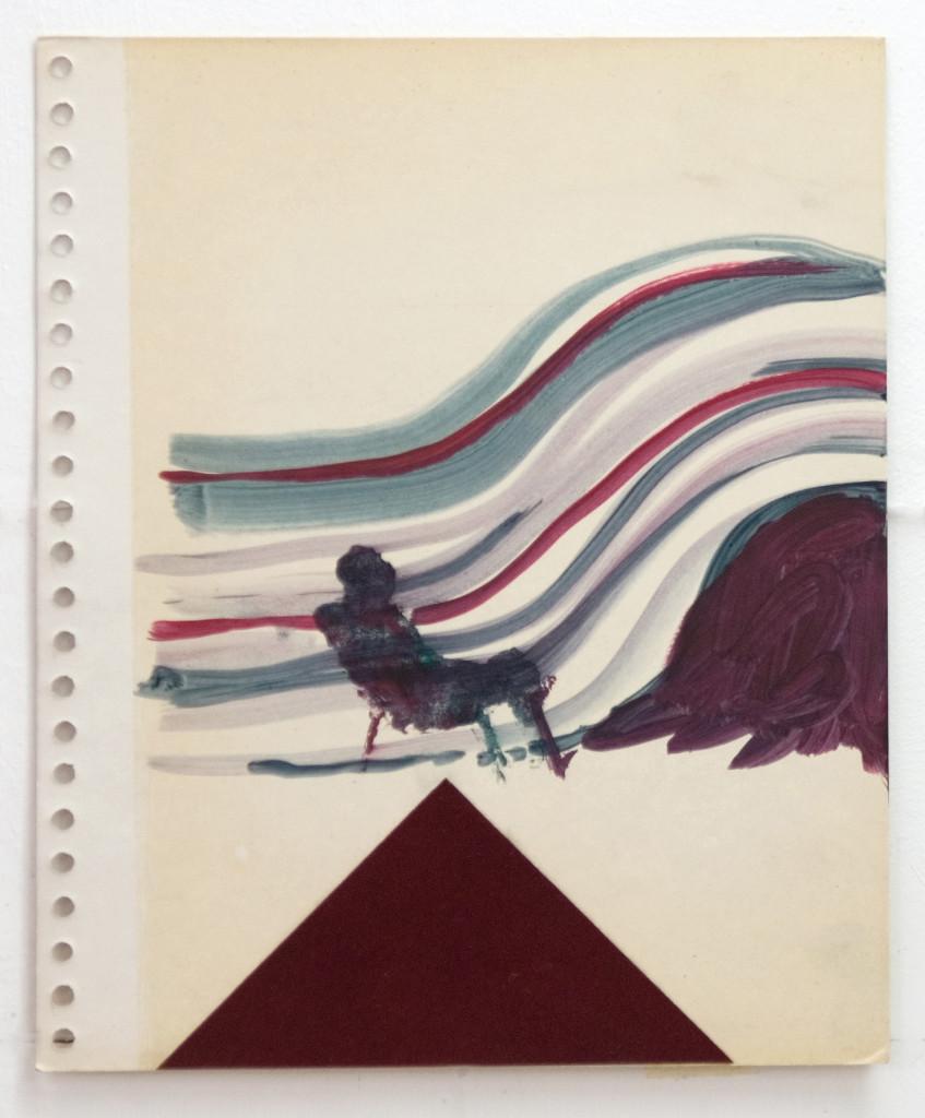 120 - Felixfrompalavas study III (2014) - 27.9cm x 23cm - oil paint and felt on old photo album page
