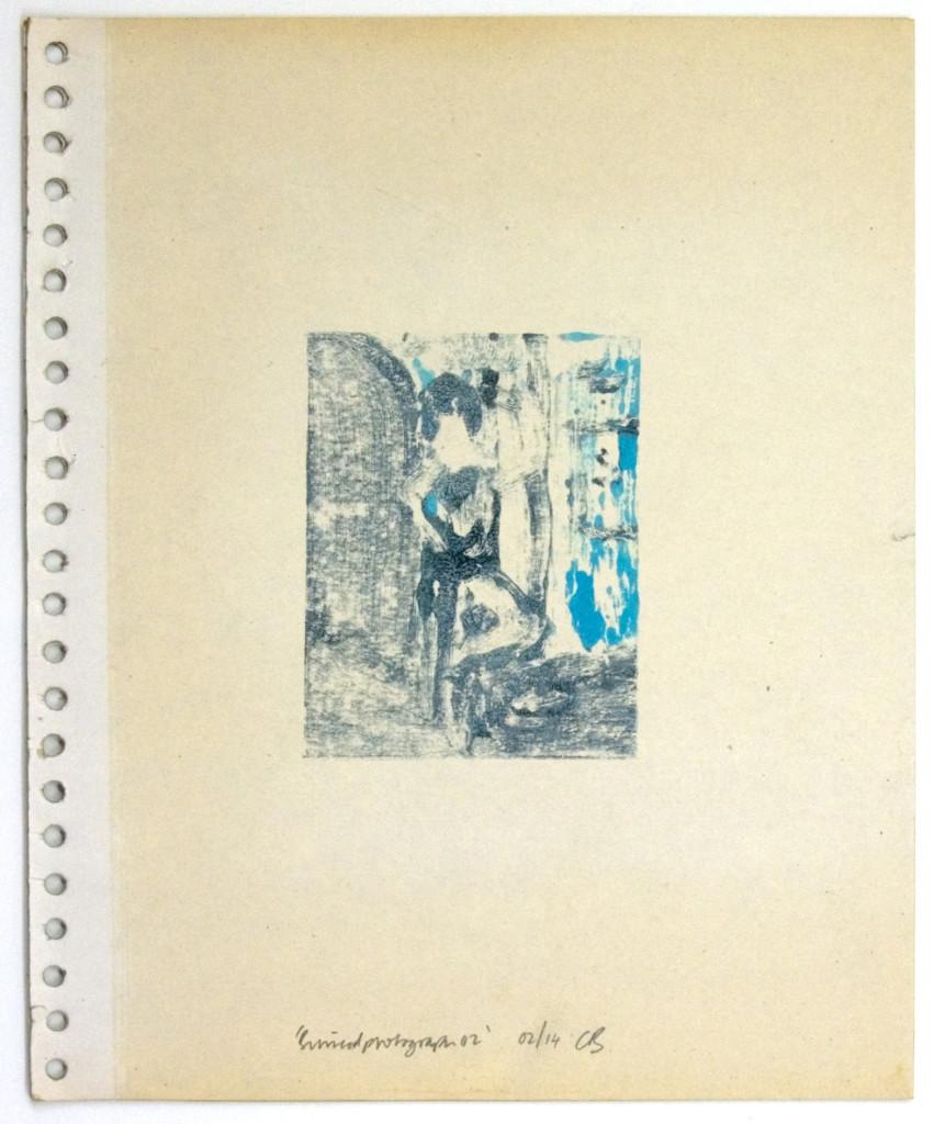 126 - Binnedphotograph02 (2014) - 27.9cm x 23cm - monoprint with oils on old photo album page