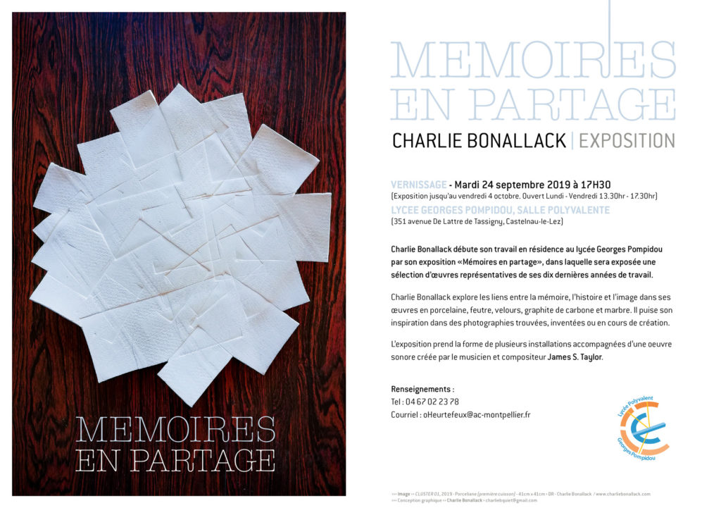 Poster for Memoires en Partage exhibition